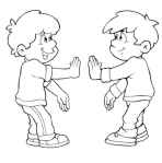 Atividades Infantis - Brincado de espelho